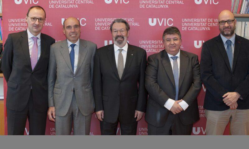 Firma de Convenio de Colaboración entre UVic-UCC, Fundació TICSalut y Esteve Teijin